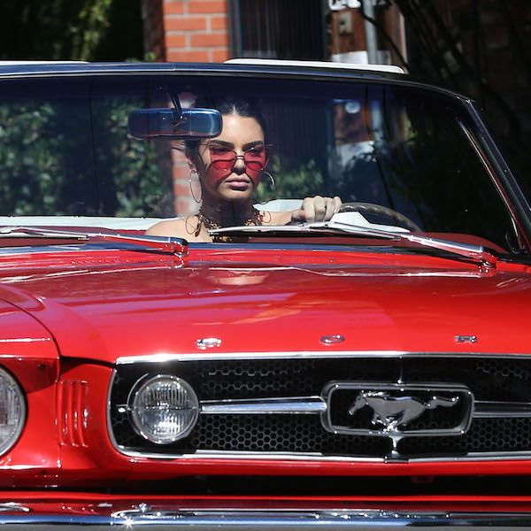 Kendall Jenner Takes Her Classic Red Mustang For A Spin In Los Angeles - http://oceanup.com/2016/11/11/kendall-jenner-takes-her-classic-red-mustang-for-a-spin-in-los-angeles/