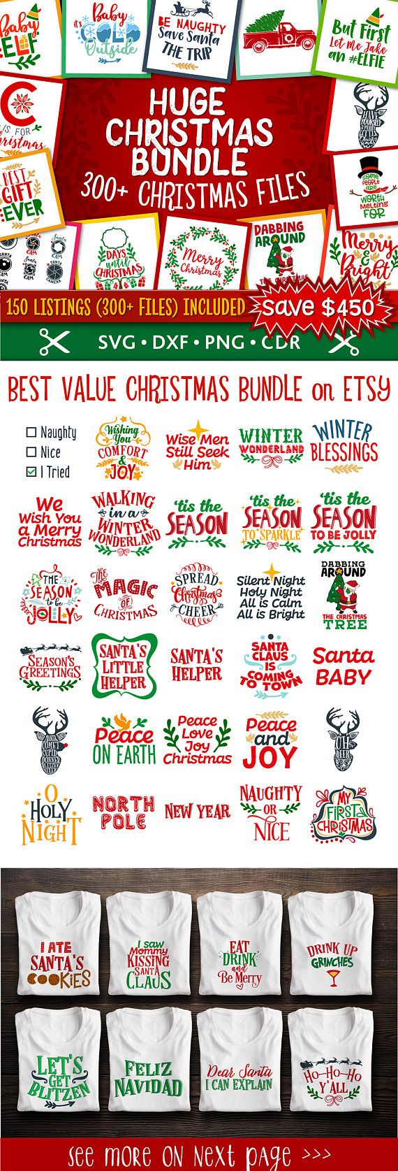 Christmas Svg Christmas Bundle Svg Christmas Svg Bundle Christmas Files Bundle Cut Files! INSTANT DOWNLOAD // COMMERCIAL USE // 100% COMPATIBLE Congratulations! You just found the BEST value Christmas Bundle on Etsy! This bundle contains: 313 files in SVG format 313 files in DXF