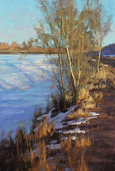 Fire and Ice by Kim Lordier Pastel ~ 36 x 24