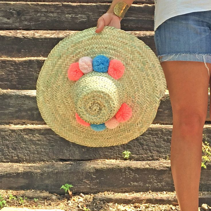 Can't get much more adorable than a pom pom sun hat. We've added a new silhouette to our hat collection and we're in love with them! All brims vary in size.
