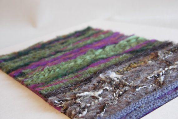 Needle felted textile landscape mount. The dales.
