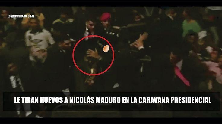 A Nicolás Maduro le tiran huevos y Piedras en San Felix. Desfile Militar...