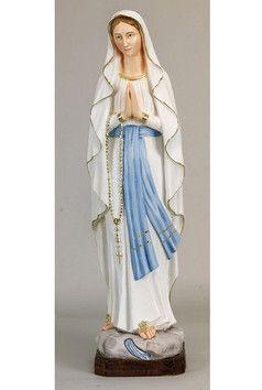 Statua Madonna di Lourdes cm. 50 altezza cm. 50 in resina e polvere di marmo disponibile anche nel colore bianco  http://www.ovunqueproteggimi.com/collezione-statue/madonne/lourdes/