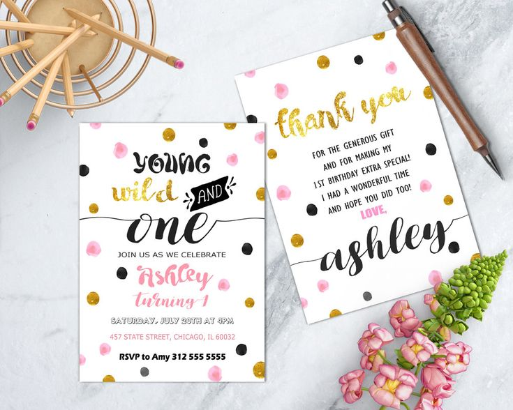 171 best kids birthday invitations images on pinterest convites de wild one invitation pink and gold wild and one party young wild and stopboris Gallery