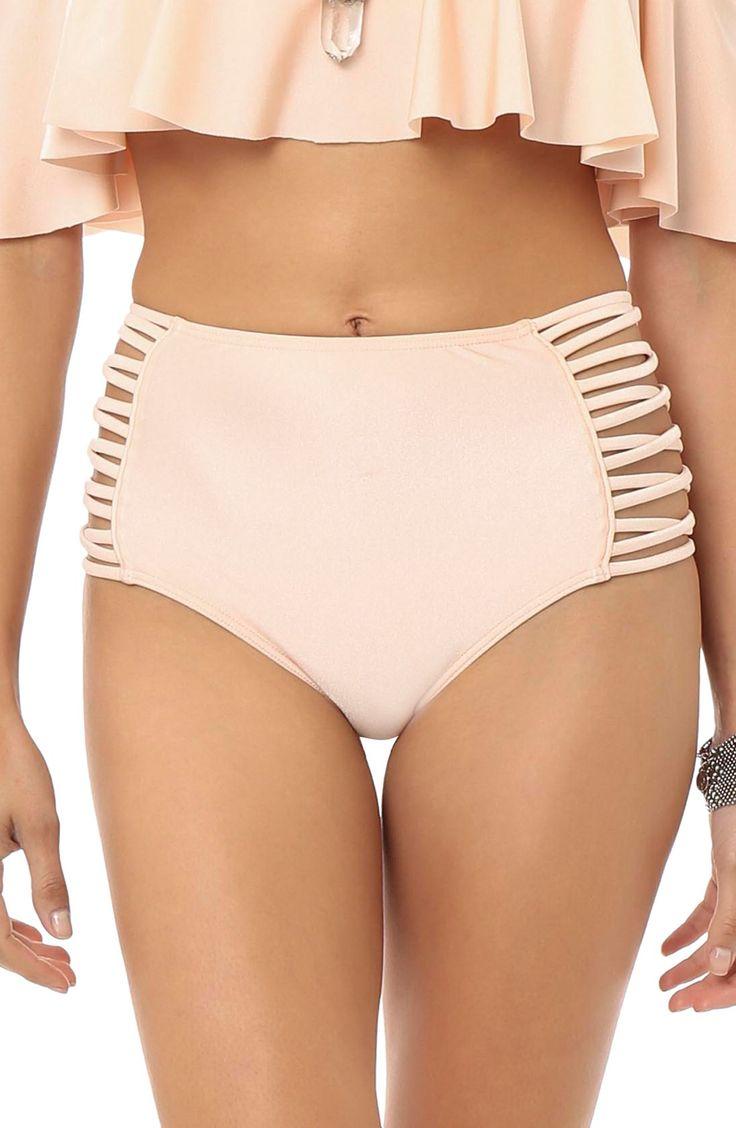 O'Neill 'Lux Solids' High Rise Bikini Bottoms