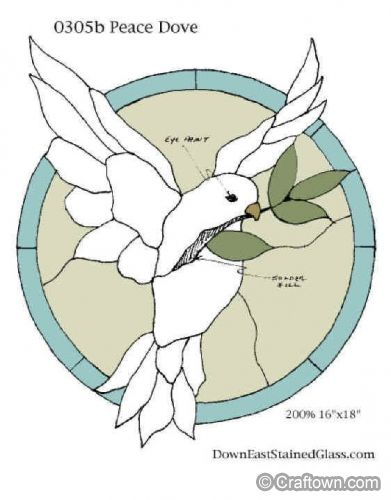 Peace Dove stained glass craft project.