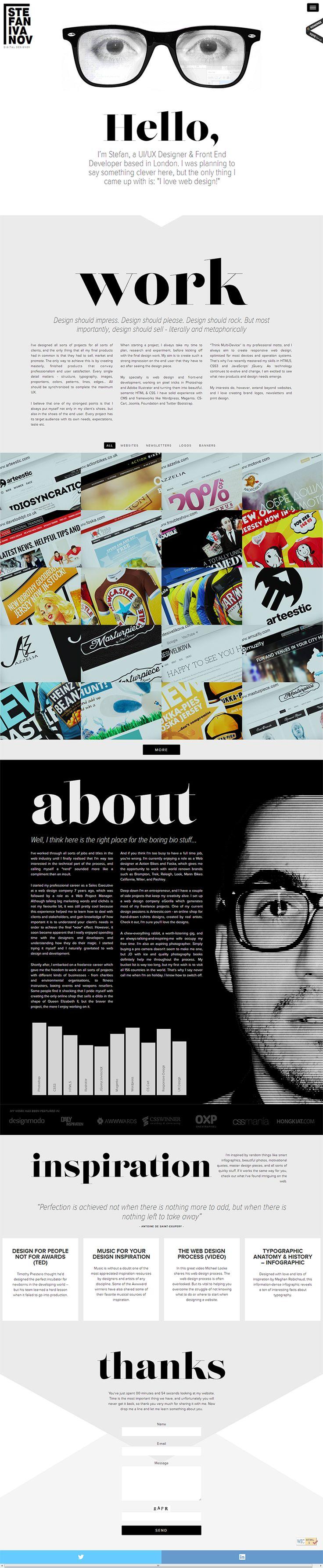 http://stefivanov.com/ Design a Better Tomorrow. http://www.nevernorth.com #webdesign, #freelance, #graphic design