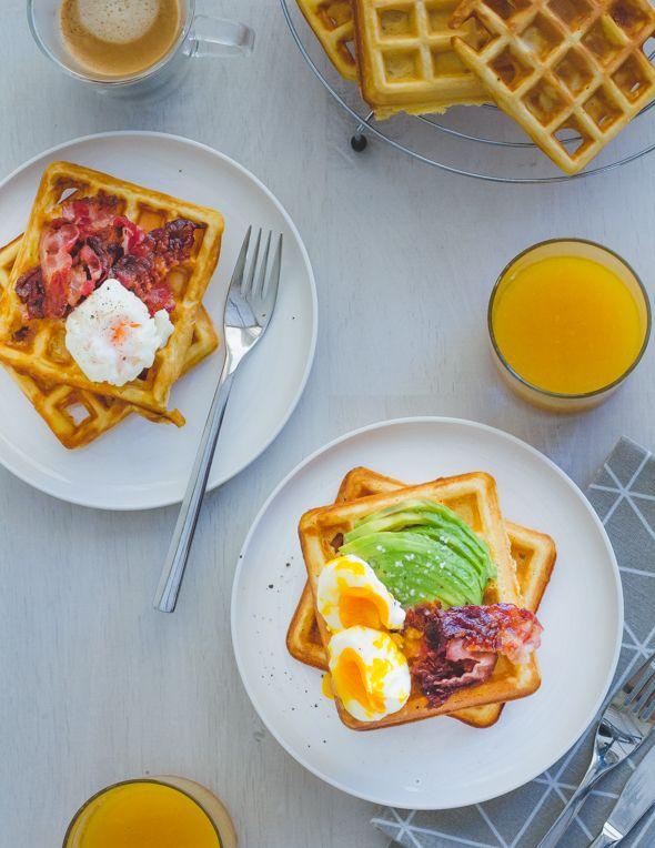 Deze ontbijtwafels moet je eens testen! Je serveert ze zoet of zout... helemaal naar jou smaak!