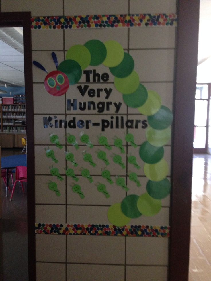 The Very Hungry Caterpillar bulletin board for kindergarten