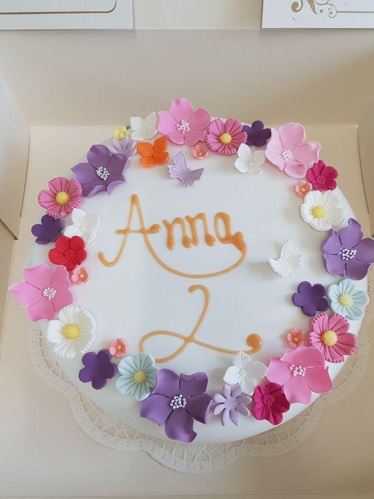 Kindergeburtstag, Mädchen, Geburtstagstorte, mit Fondant, Birthdaycake, girl