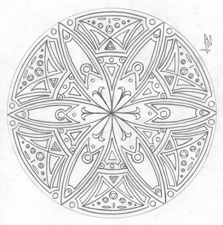 art mandala coloring pages | Mandala 04 by ptitchka on deviantART