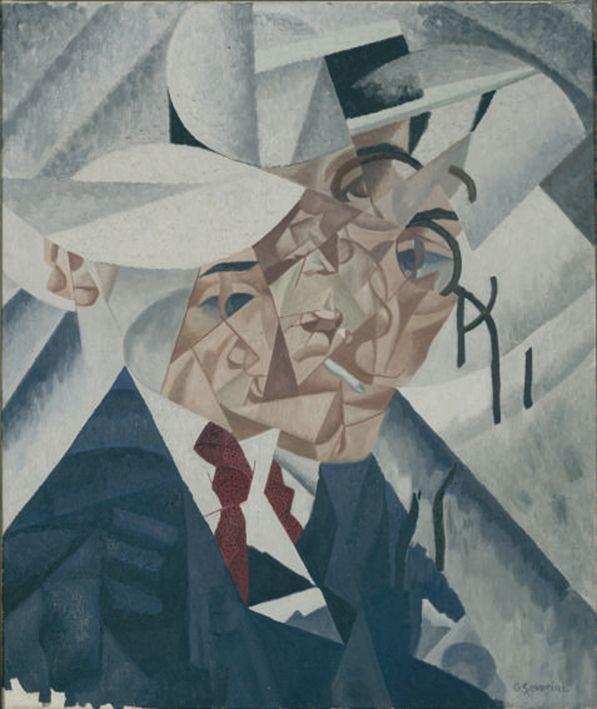 Gino Severini, Autoritratto(1912/1960) olio su tela;55 x 46,3cm