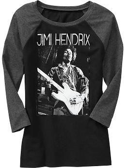 Womens Jimi Hendrix™ Raglan-Sleeve Tees