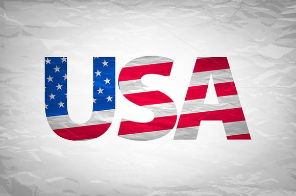 USA typography design by Rommeo79 on @creativemarket