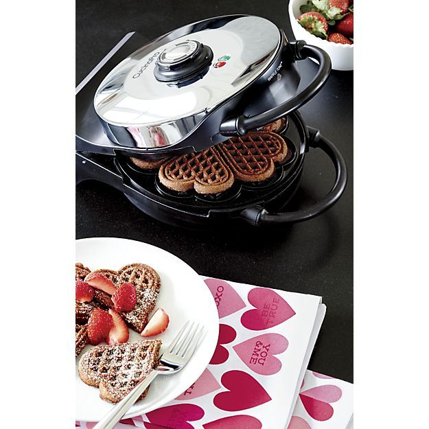 CucinaPro Heart Shaped Waffle Maker in Specialty Appliances | Crate and Barrel