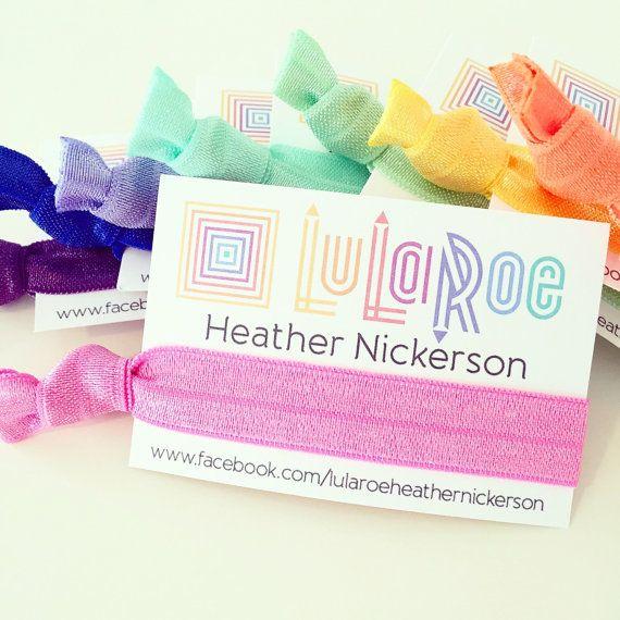 Custom lularoe hair tie business cards custom by for Lularoe business card ideas