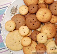 """Рецепт: Печенье """"Сладкие """"пуговицы"""":  Сливочное масло (комнатной температуры) - 150 г Пудра сахарная - 75 г Яичный желток - 1 шт. Мука - 1,5-2 стакана Какао - 1 ст. л. Корица или ванильный сахар - 1 ч. л. или по вкусу Соль - 1 щепотка"""