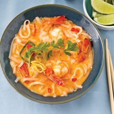 Soupe-repas aux crevettes délicieusement parfumée - Recettes - Cuisine et nutrition - Pratico Pratique