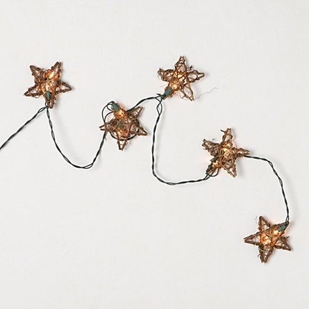 Rattan Star Light Strand. this would look so cool draped around the posts on our bed...