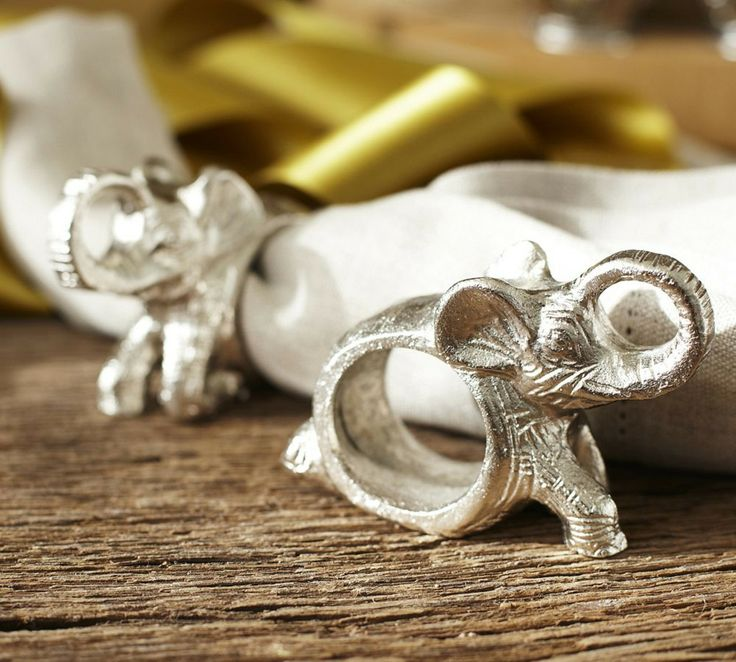 Elephant Napkin Ring, Set of 4  |  Pottery Barn Australia