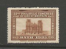 GB/UK Bath 1935 22nd Philatelic Congress of Great Britain poster stamp/label (E)