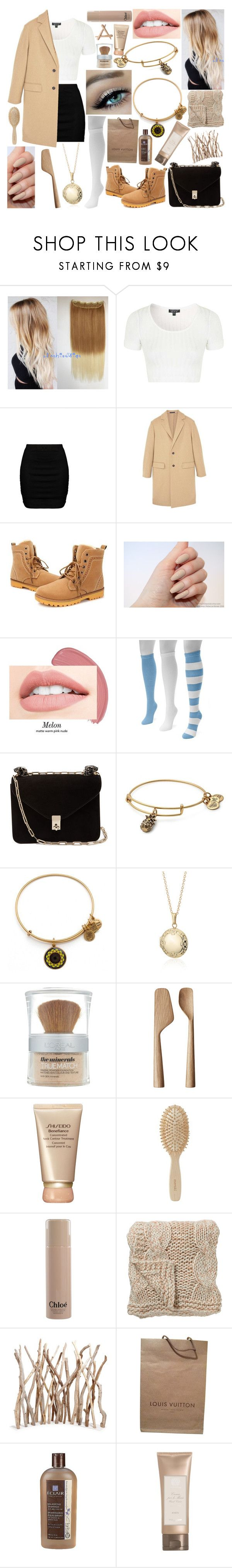 """#30🎶"" by kenziebandgeek ❤ liked on Polyvore featuring Topshop, Zizzi, MANGO, Muk Luks, Valentino, Alex and Ani, Blue Nile, L'Oréal Paris, Georg Jensen and Shiseido"
