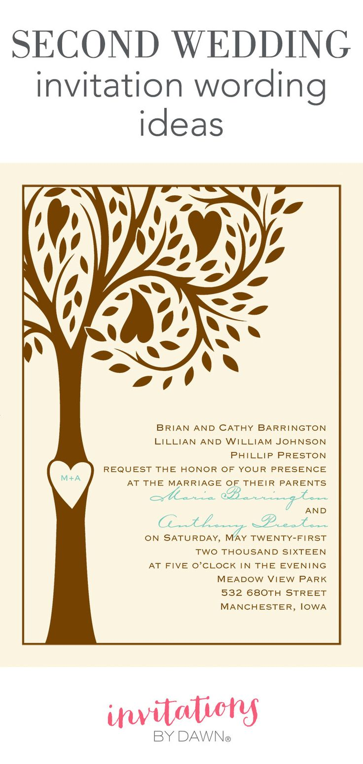 Best 25 second weddings ideas on pinterest for Wedding invitation wording for joining families