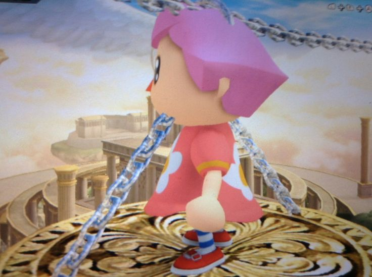 This is also ssb4 another one of my friends we put her in chains lolz