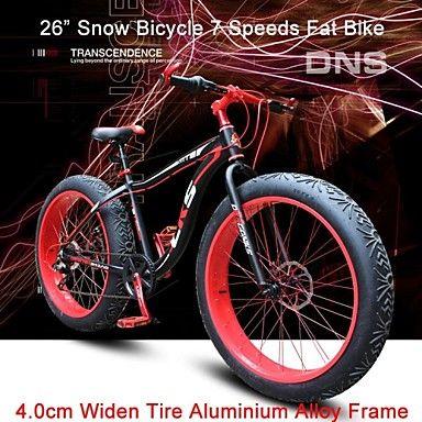 """7 velocidades de 26 """"de nieve NDS neumático de bicicleta de grasa en bicicleta anchura 4cm ™ terreno de montaña bicicleta shimano tren motriz – EUR € 599.99"""