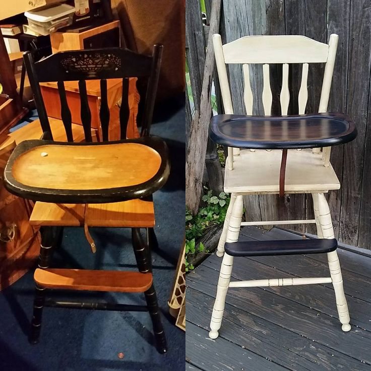 Antique high chair has been breathed new life! #crookedoar #highchair #refinish #refurbish #crookedoar