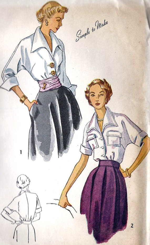 1940s Misses Blouse, OH, I need both of these!