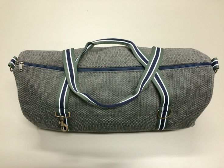 mod. 5 - green gray bag - green gray/blue/white stripes