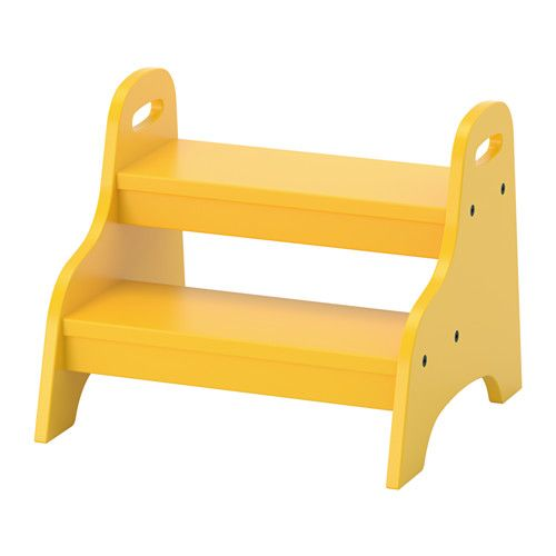 IKEA - TROGEN, Child's step stool, , Your child can use it as a footrest, a seat or stand on it to reach things that are stored up high.Sits flat on the floor and won't tip when children step on it.Easy for your child to lift and move with the handles on both sides.