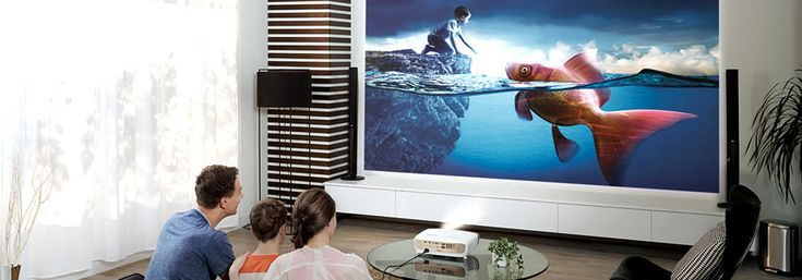 Znalezione obrazy dla zapytania projektor zamiast tv