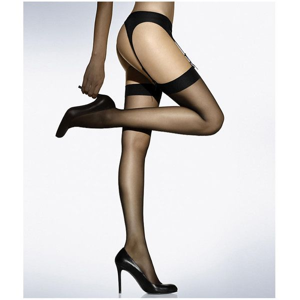 Wolford Individual 10 Thigh High Stockings ($38) ❤ liked on Polyvore featuring intimates, hosiery, tights, sheer, thigh high, women, sheer stockings, sheer tights, wolford pantyhose and thigh high tights
