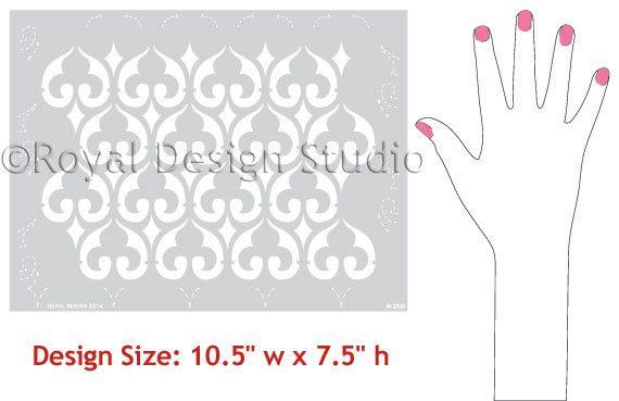 Moroccan Stencils | Moorish Fleur de Lis Stencil | Royal Design Studio