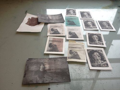 An afternoon of printing fun. There is nothing quite like the smell of the ink and the way it feels as I push it into the recesses of a plate. My heaven. Please follow my blog: http://anneliesehough.tumblr.com/