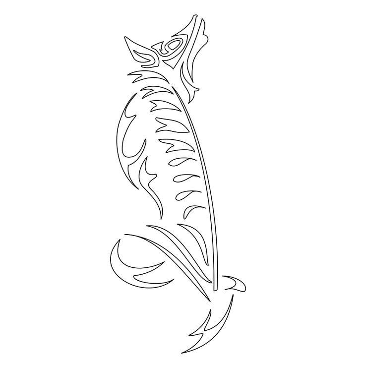 Tatuaggio di Lupo e gladiolo, Forza interiore tattoo - TattooTribes.com
