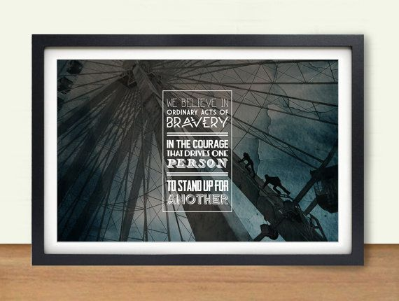 """Divergent: Dauntless - """"Acts of Bravery"""" Digital Art 17x11 Poster Print on Etsy, $14.00"""