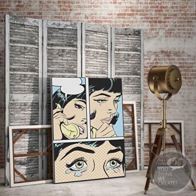Γυναίκα Pop Art, Κόμικς, Πίνακες σε καμβά