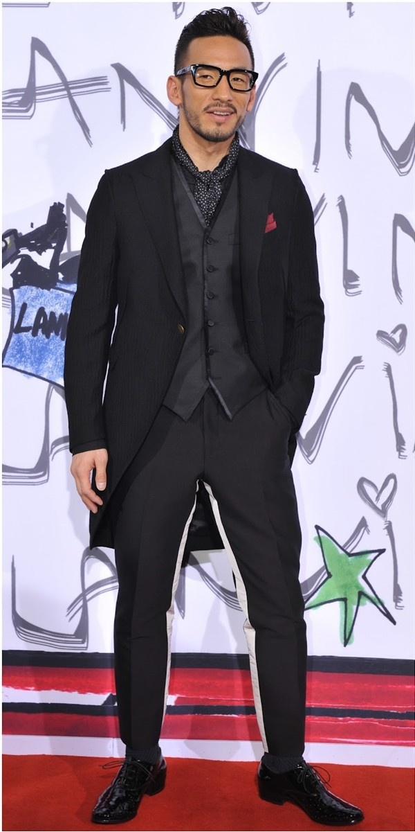 Hidetoshi Nakata at the Lanvin in China: Ten Years of Alber Elbaz event 2012