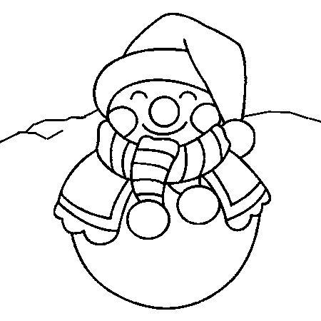 Les 25 meilleures id es de la cat gorie coloriage bonhomme de neige sur pinterest bonhomme de - Dessin bonhomme a colorier ...