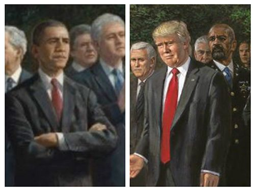 Conservative artist revises Obama-era 'Forgotten Man' painting for Trump with one stark difference