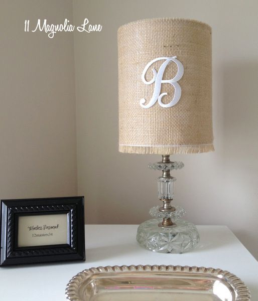 The 25 best old lamp shades ideas on pinterest lamp shades near monogrammed burlap drum lamp shade at 11 magnolia lane aloadofball Image collections