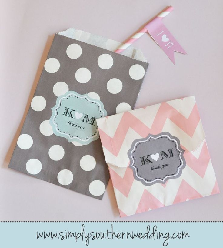 Now offering CHEVRON and DOTS paper favor bags!