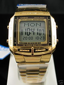 Love this! I got the silver version though. CASIO GOLD TELEMEMO DATABANK WATCH DB-360G DB360 DB360G