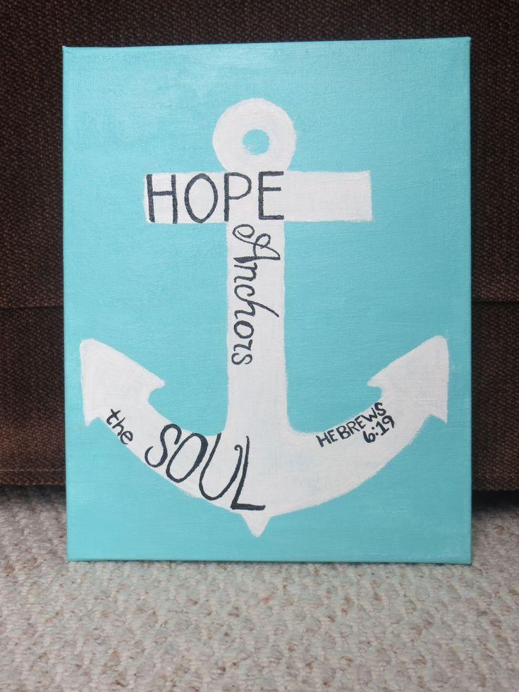 cute bible verses | CUSTOM Hebrews 619 Bible Verse Painted Canvas by MyCanvasDesigns