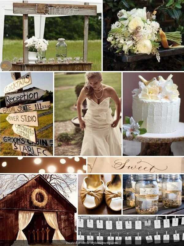 wood-barn-cake-and-bride