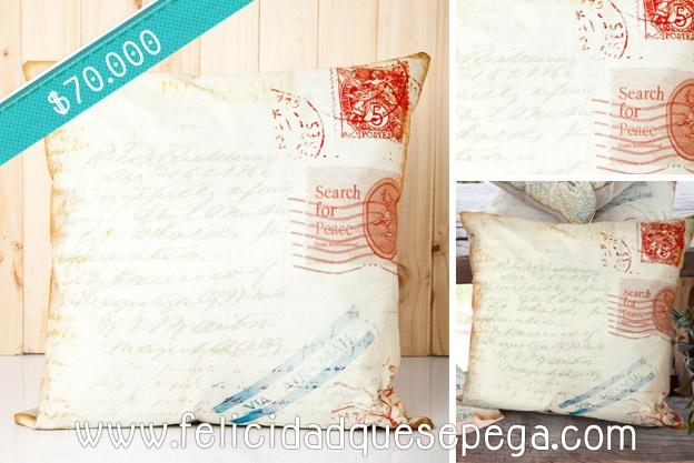 """Cojín """"Postal Vintage"""" de nuestra nueva colección"""