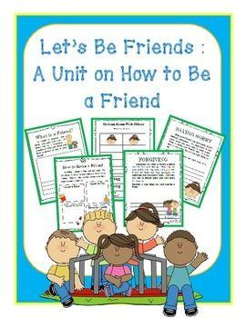 FRIENDSHIP UNIT- Kindergarten/1st/2nd- 3-Weeks Worth of Ac